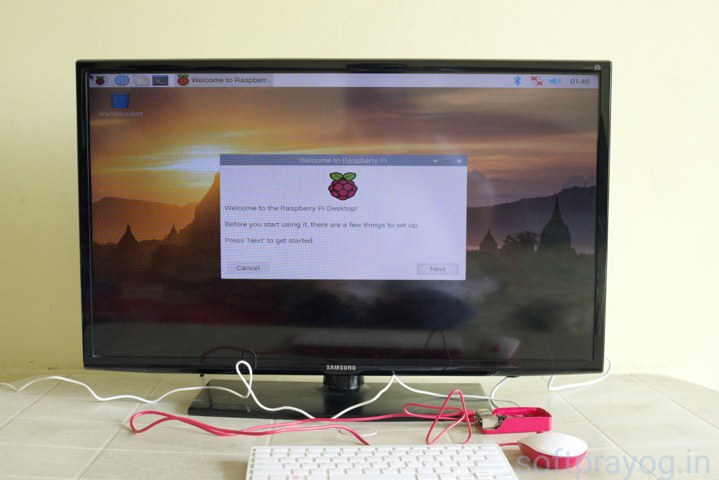 First screen after booting Raspberry Pi