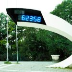 Modern design digital clock in Belgrade