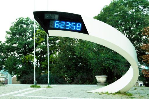Modern design digital clock in Belgrade